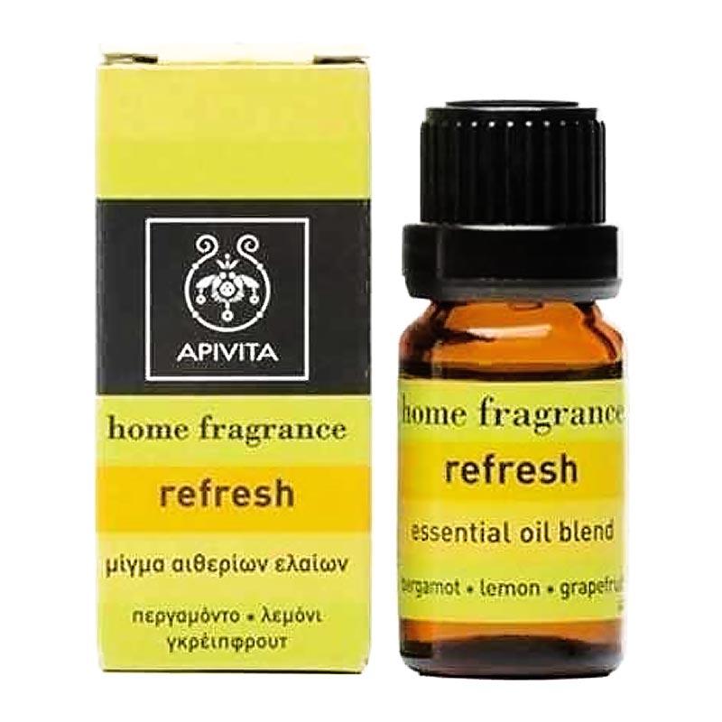 Apivita Home Fragrance Refresh Μίγμα από Περγαμόντο, Λεμόνι & Γρέιπφρουτ 10ml