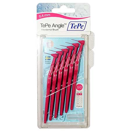 TePe Angle (Γωνιακά) 0.40 Mm Νο.0 Φούξια - 6 Τεμάχια
