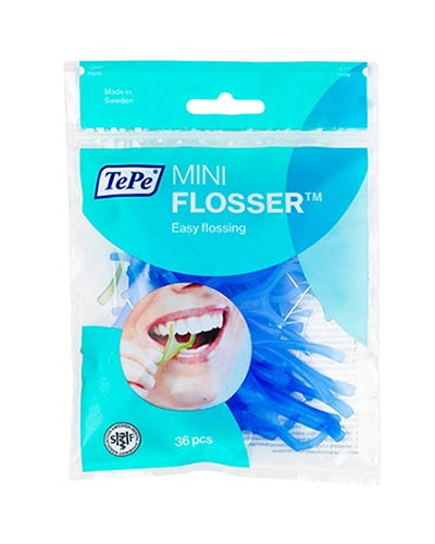 Tepe Mini Flosser Διχαλα με οδοντικό νήμα, 36 τμχ.