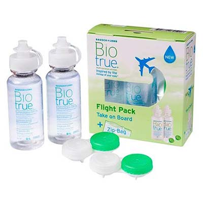 Bausch & Lomb Biotrue Flight Pack 60ml + 60ml + Zip Bag