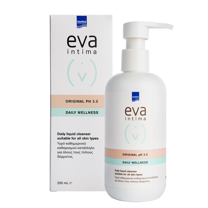 Intermed Eva Intima Original pH 3.5 Daily Wellness Καθαρισμός Ευαίσθητης Περιοχής 250ml