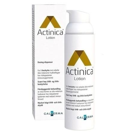 Actinica Lotion spf 50+, Ιατροτεχνολογικό Προϊόν για την Προστασία από την Ευρέως Φάσματος UV Ακτινοβολία, 80ml