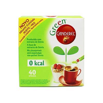 Canderel Green Με γλυκαντικό από εκχύλισμα του φυτού Stevia, 40 Sticks