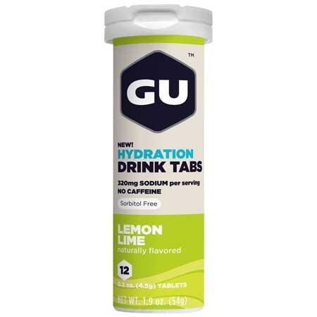GU Drink Ταμπλέτες Ηλεκτρολυτών Λεμόνι 4.6gr