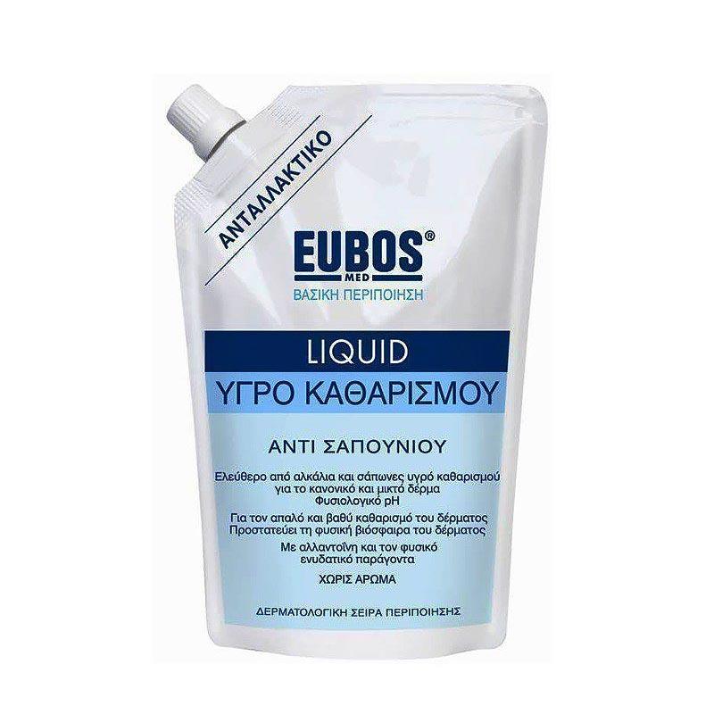 Eubos Liquid BLUE Refill Ανταλλακτικό Υγρό Καθαρισμού 400ml