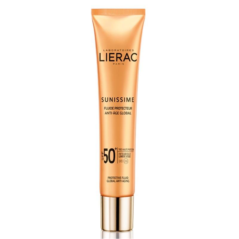 Lierac Sunissime Energizing Protective Fluid Global Anti-Aging SPF50+ Αντηλιακή & Αντιγηραντική Κρέμα Προσώπου 40ml.