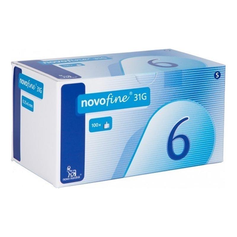 Novofine Αποστειρωμένες Βελόνες Ινσουλίνης 31G 0,25x6mm 100 τεμάχια