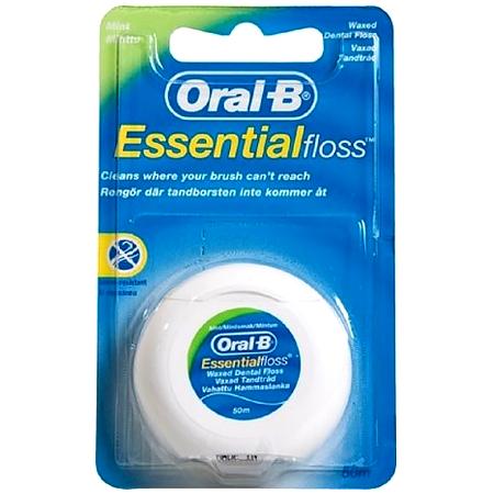 Oral-B Essential Floss Mint (50m) - Κήρωμένο Οδοντικό Νήμα με γεύση Μέντα