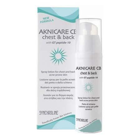 Synchroline Aknicare Chest & Back Spray Emulsion Σπρέυ Για Την Ακμή Στήθους & Πλάτης 100ml
