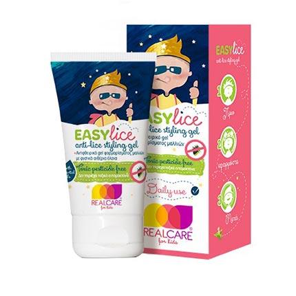 REAL CARE Easylice Προληπτικό Αντιφθειρικό gel φορμαρίσματος μαλλιών 75ml