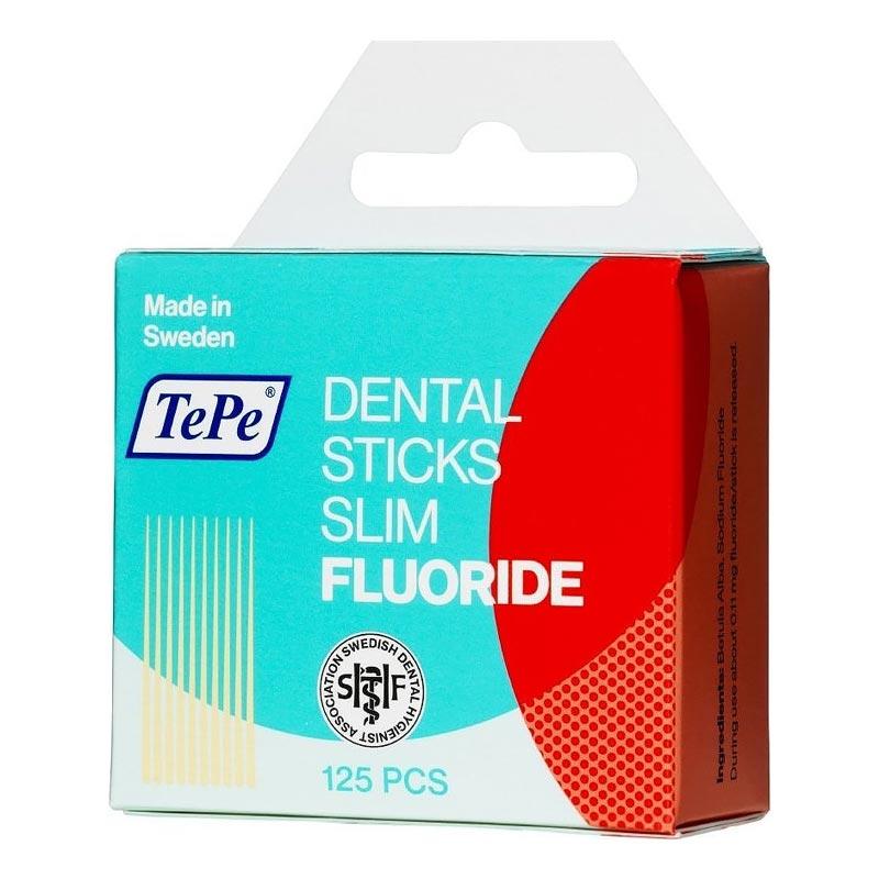 TePe Dental Sitcks Slim Fluoride Οδοντογλυφίδες με Φθόριο 125 τμχ