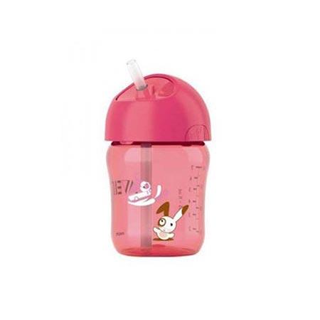 Philips Avent κύπελλο ροζ με καλαμάκι 12m+ 260ml (SCF760/00)