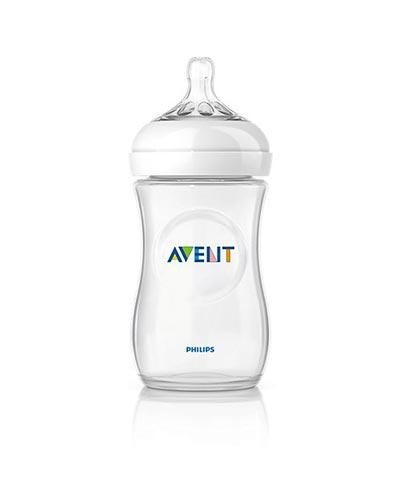 Philips Avent Natural Πλαστικό Μπιμπερό 260ml, 1Μ+ (SCF693/17)