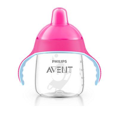 Philips Avent Κύπελλο με στόμιο & λαβές ΡΟΖ 260ml, 12m+ (SCF753/07)