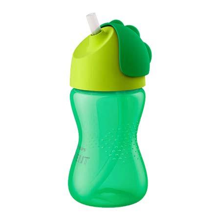 Philips Avent Κύπελλο με Καλαμάκι Bendy Πράσινο-Λαχανί 300ml, 12m+ (SCF798/01)