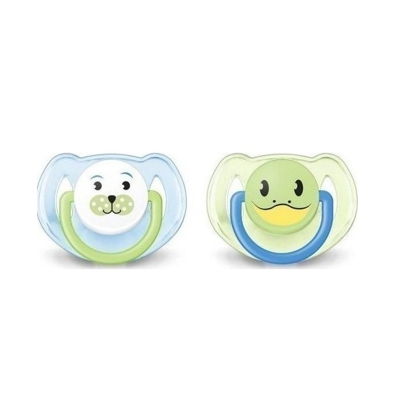 Philips Avent Animal Pacifiers 6-18m SCF182/24 for Boys 2τμχ