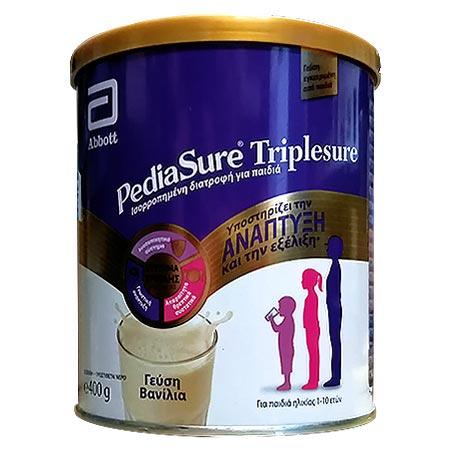 Abbott Pediasure Triplesure Συμπλήρωμα Διατροφής σε μορφή Γάλακτος για παιδιά 1-10 ετών με Γεύση Βανίλια - 400gr