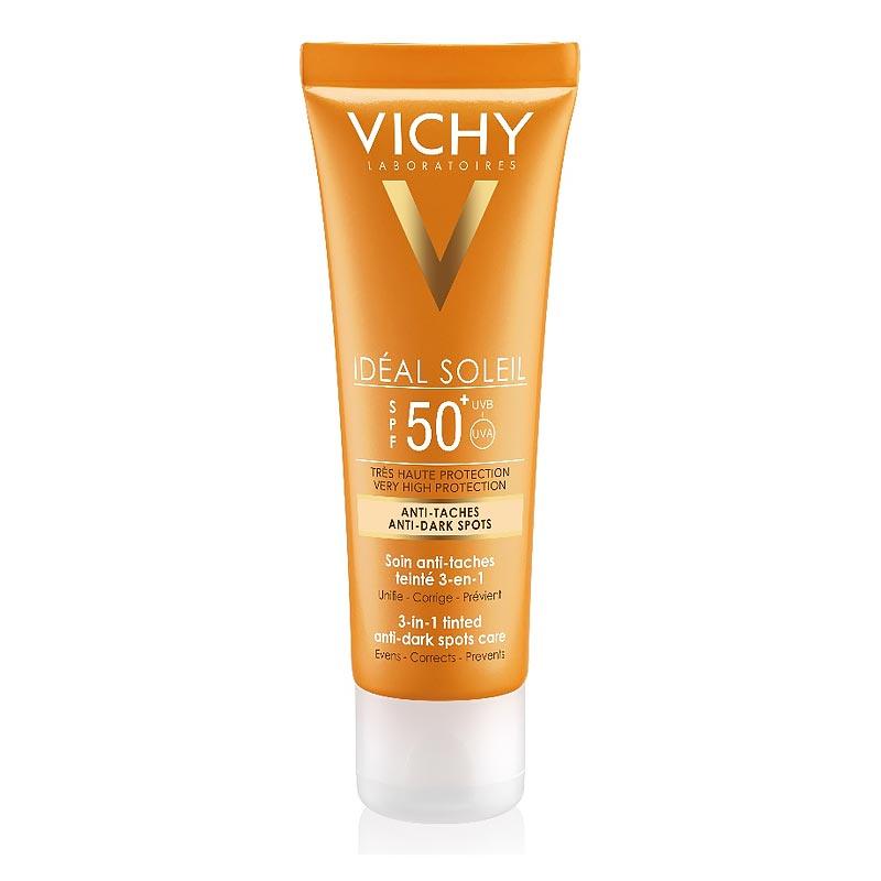 Vichy Ideal Soleil Φροντίδα κατά των κηλίδων με Χρώμα 3 σε 1 SPF50+, 50ml