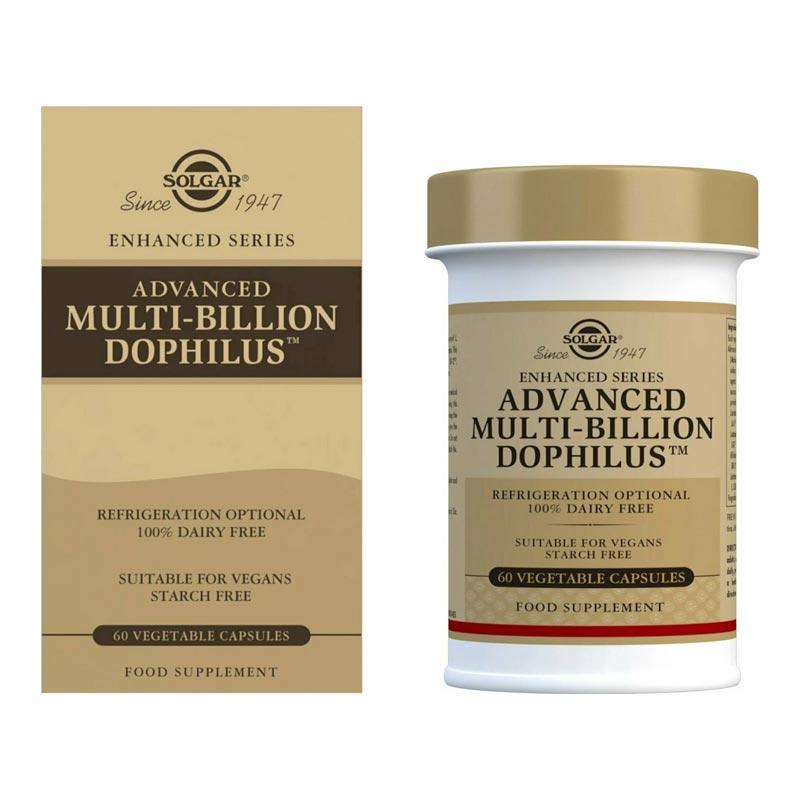 Solgar Advanced Multi-Billion Dophilus Φόρμουλα Προβιοτικών 60 κάψουλες