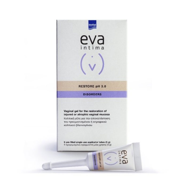 Intermed Eva Intima Restore pH 3.8 Disorders Κολπική Γέλη για την Ευαίσθητη Περιοχή, 9Τμχ x 5g.