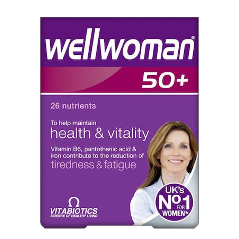Vitabiotics Wellwoman 50+ - Πολυβιταμίνη Για Γυναίκες Άνω Των 50 Ετών, 30 ταμπλέτες