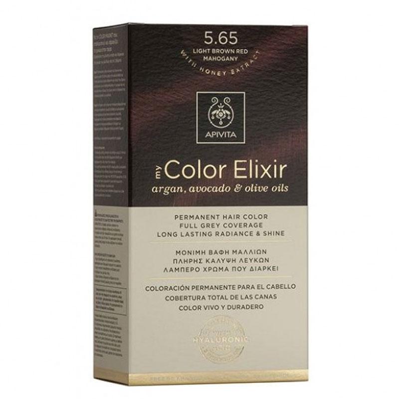 Apivita My Color Elixir Βαφή Μαλλιών 5.65 Καστανό Ανοιχτό Κόκκινο Μαονί