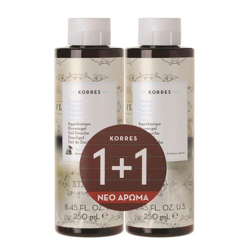 Korres Promo Showergel Yoghurt Αφρόλουτρο Γιαούρτι 250ml 1+1 ΔΩΡΟ
