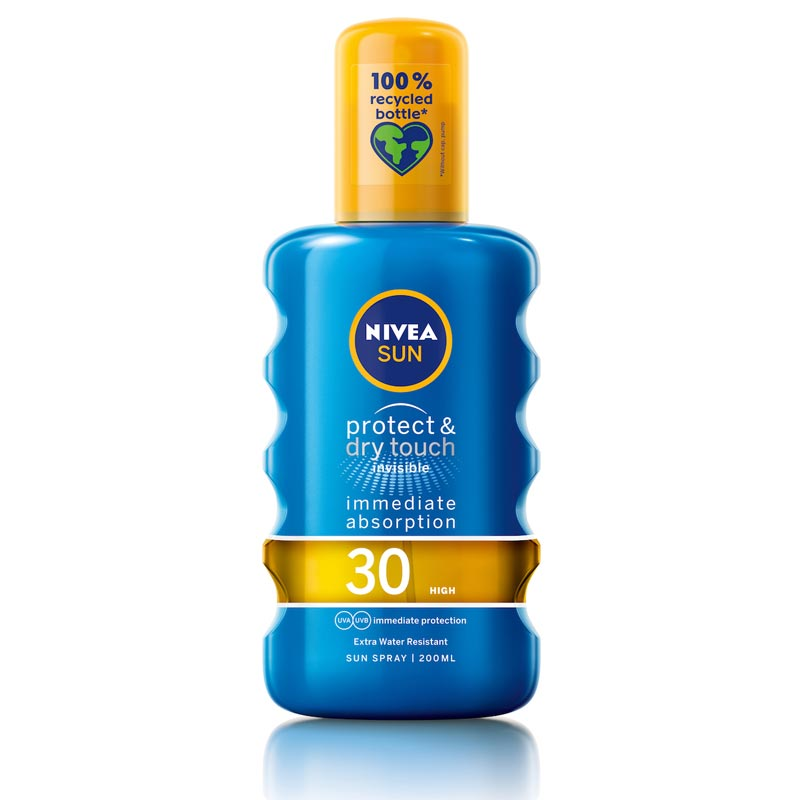 Nivea Sun Protect & Dry Touch Invisible Spray Spf30 Διάφανο Αντηλιακό Mist Υψηλής Προστασίας & Αίσθηση Δροσιάς 200ml