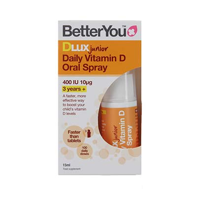 Better Υou Dlux Vitamin D3 Junior 400iu Υπογλώσσιο Spray 15ml (100 Ψεκασμοί)