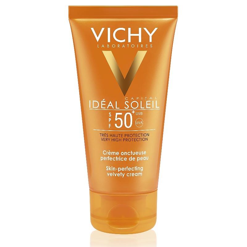 Vichy Ideal Soleil Aντηλιακή Κρέμα Προσώπου SPF50 Βελούδινο Αποτέλεσμα 50ml
