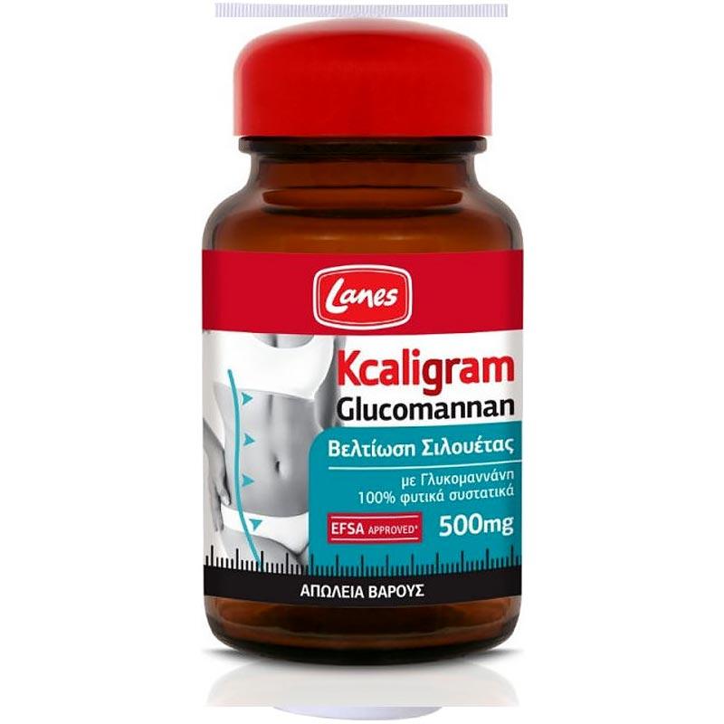 Lanes Kcaligram Glucomannan 500mg 60 κάψουλες