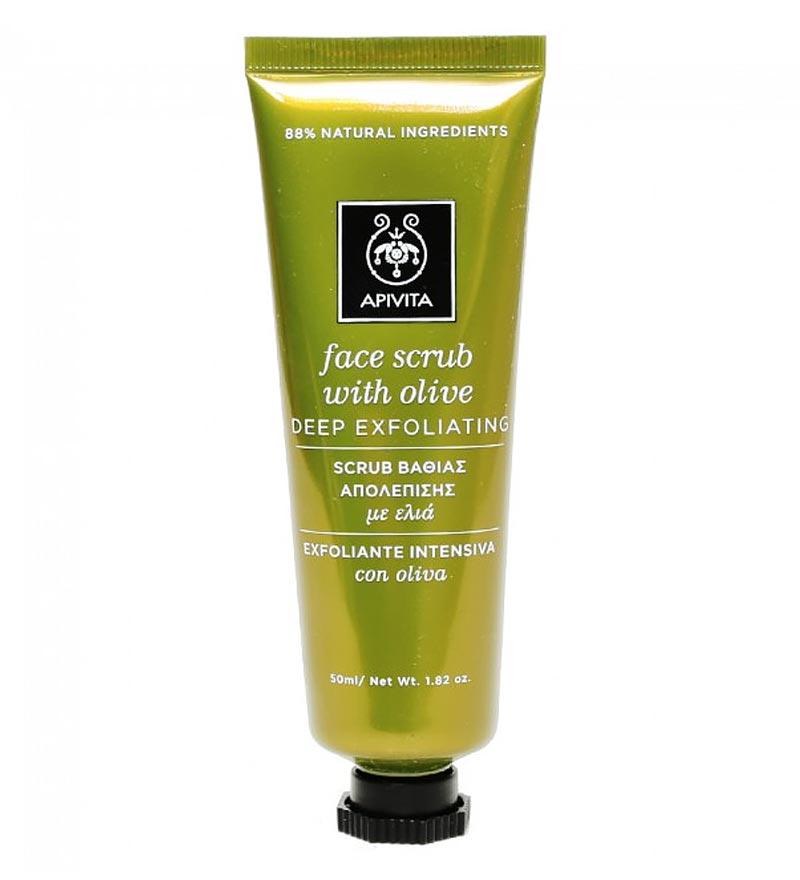 Apivita Face Scrub - Κρέμα βαθιάς απολέπισης με ελιά 50ml