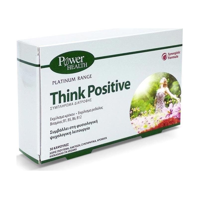 Power Health Platinum Range Think Positive Συμπλήρωμα Διατροφής Νευρικού Συστήματος 30 Κάψουλες