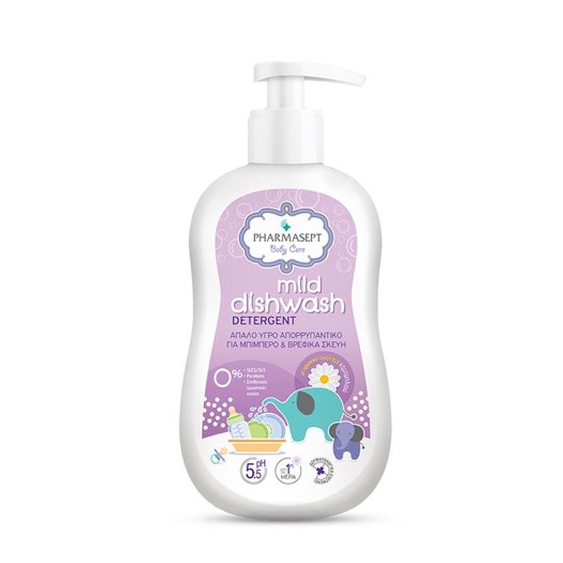 Pharmasept Baby Care Mild Dishwash Detergent Απαλό Υγρό Απορρυπαντικό Για Βρεφικά Σκεύη & Μπιμπερό 400ml