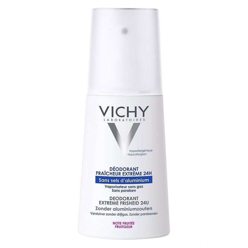 Vichy Deo Extreme Fresh Αποσμητικό Spray για απόλυτη φρεσκάδα με άρωμα φρούτων 100ml
