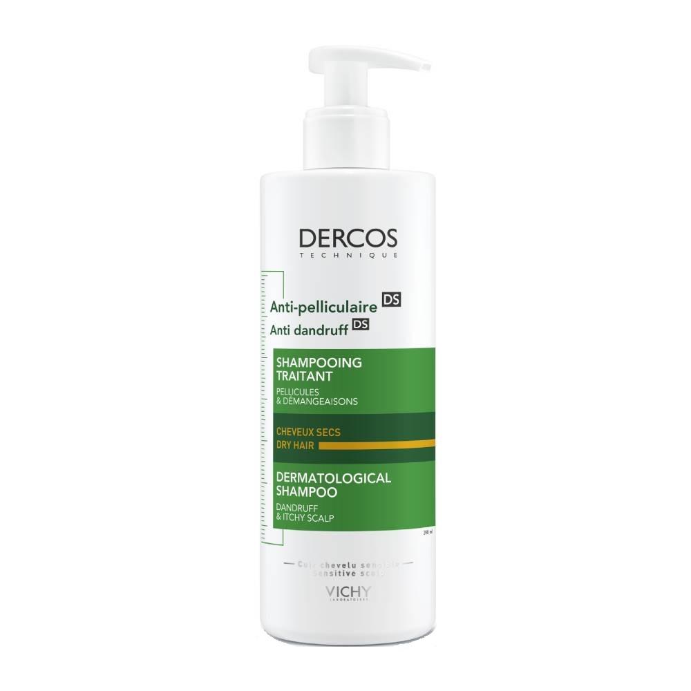 Vichy Dercos Αντιπυτιριδικό σαμπουάν DS για ΞΗΡΑ μαλλιά 390ml