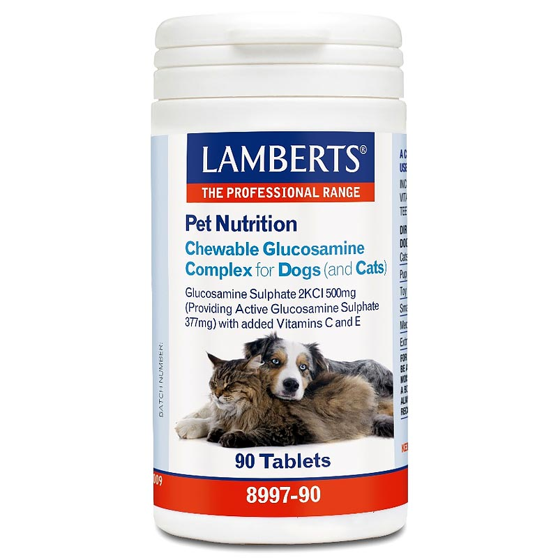Lamberts Pet Nutrition Chewable Glucosamine Complex Cats & Dogs 90caps