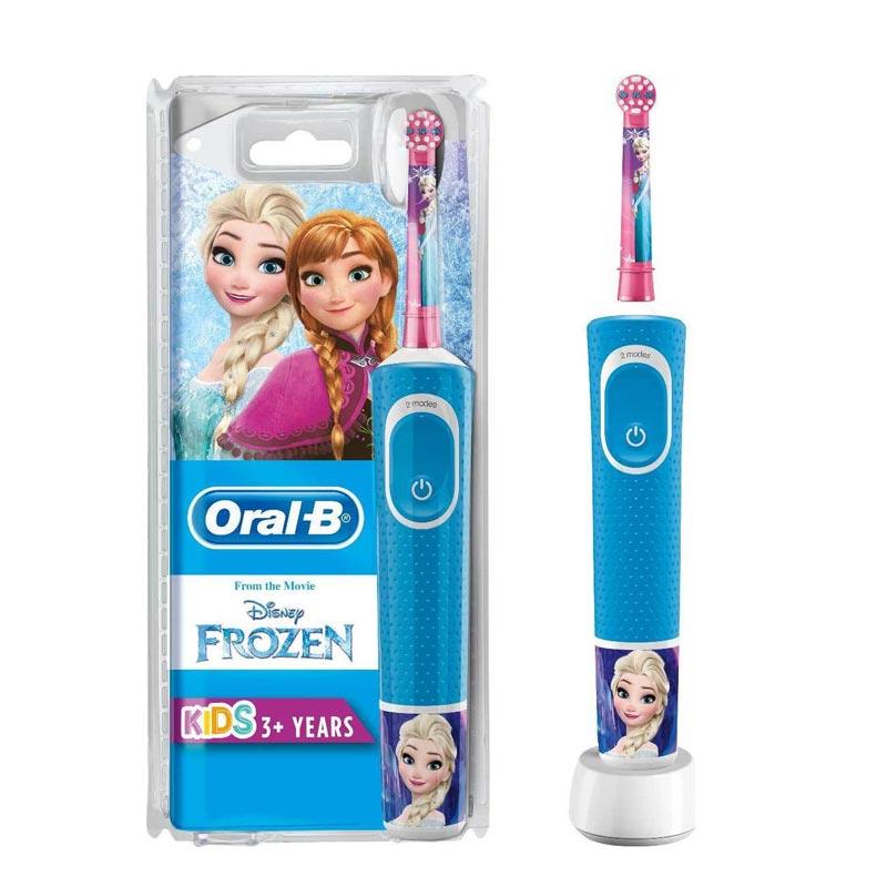 Oral-B Vitality Kids Frozen Παιδική Ηλεκτρική Οδοντρόβουρτσα 3 YEARS+ RIBON