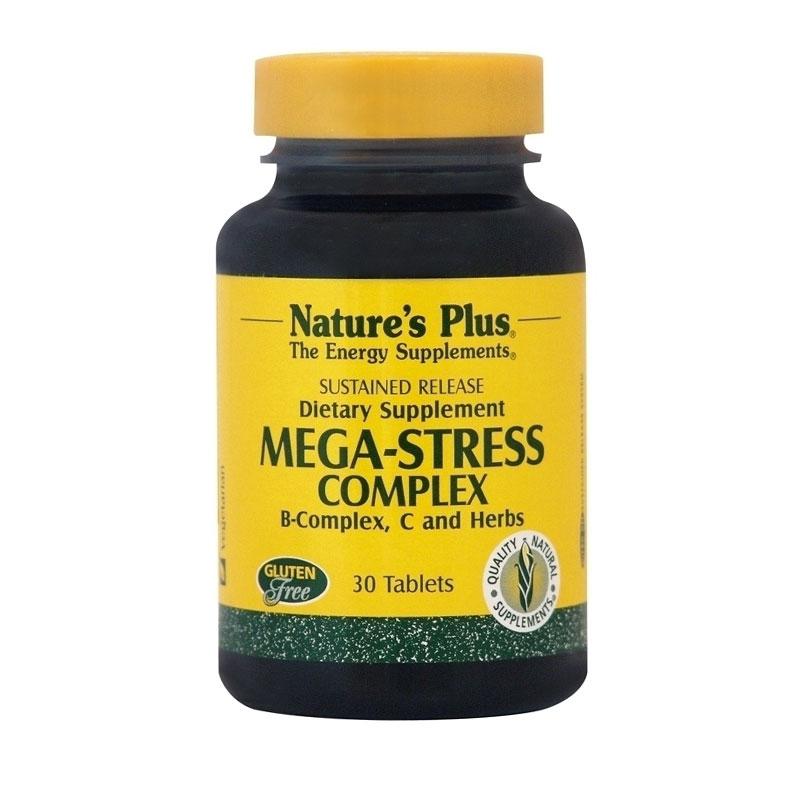 Natures Plus Mega Stress Complex - Φόρμουλα Κατά του Άγχους (30 Ταμπλέτες)