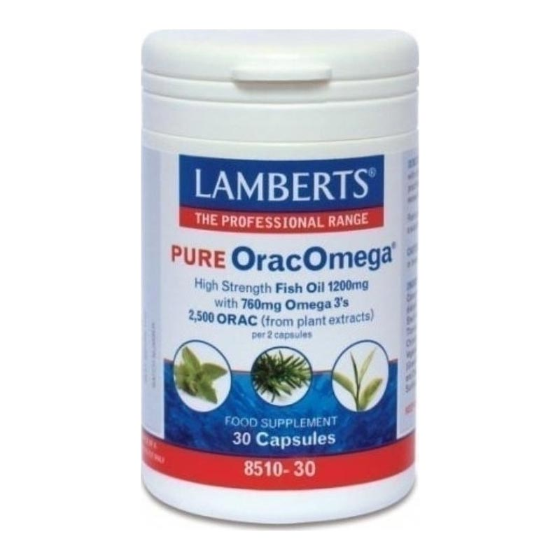 Lamberts Pure OracOmega 760mg Ωμέγα 3 λιπαρών οξέων & Φυτικά Αντιοξειδωτικά 30 κάψουλες