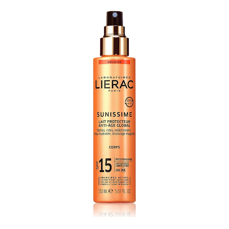 Lierac Sunissime Lait Protecteur Energisant Anti-Age Global Corps SPF15 Aντηλιακό/Αντιγηραντικό Γαλάκτωμα Σώματος 150ml