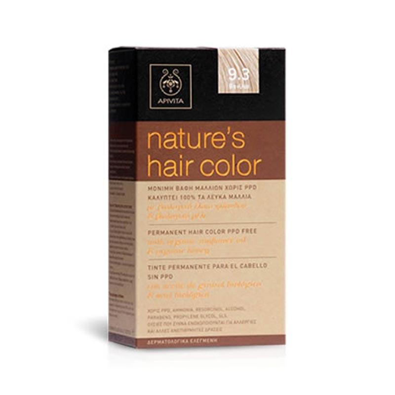 APIVITA Natures Hair Color 9.3 Βανίλια ΠΑΛΙΑ ΣΥΣΚΕΥΑΣΙΑ