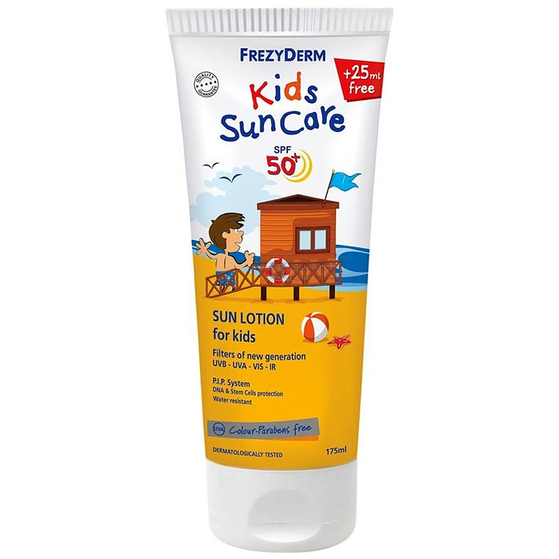 Frezyderm Kids SunCare Lotion Spf50+ Αντηλιακό Γαλάκτωμα Για Παιδιά 150ml & 25ml Δώρο