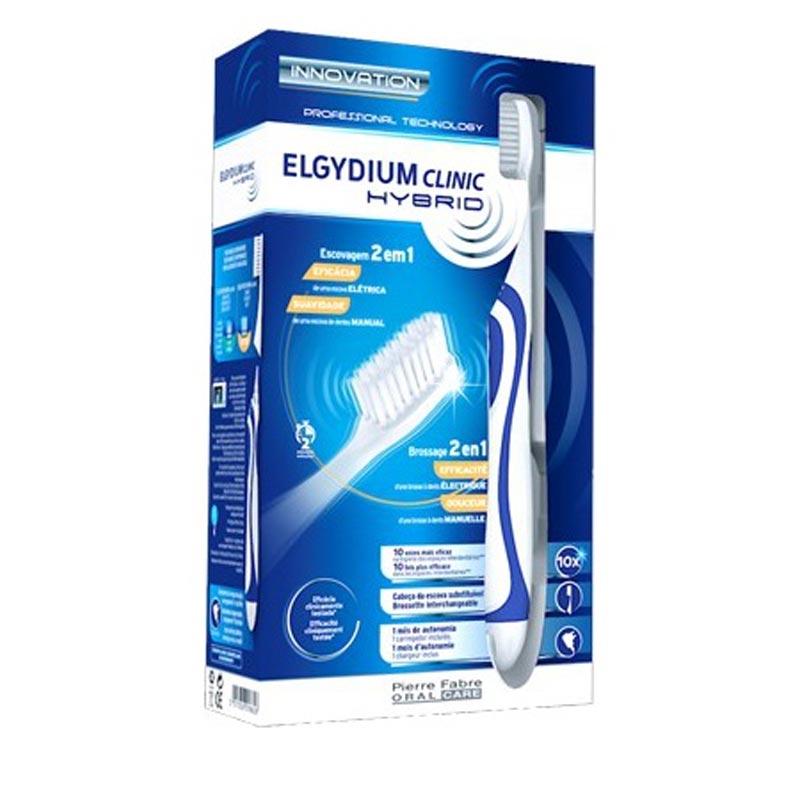 Elgydium Clinic Hybrid Toothbrush Ηλεκτρική Οδοντόβουρτσα Μπλε 1 Τεμάχιο