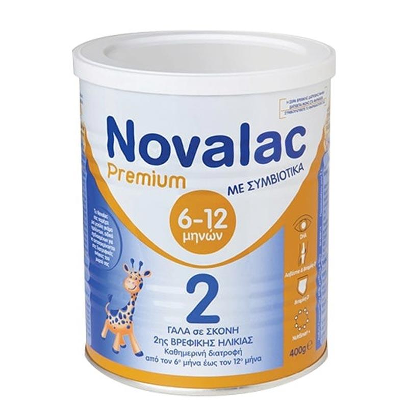 Novalac PREMIUM 2 Γάλα 2ης Βρεφικής Ηλικίας από τον 6ο έως τον 12ο Μήνα 400g