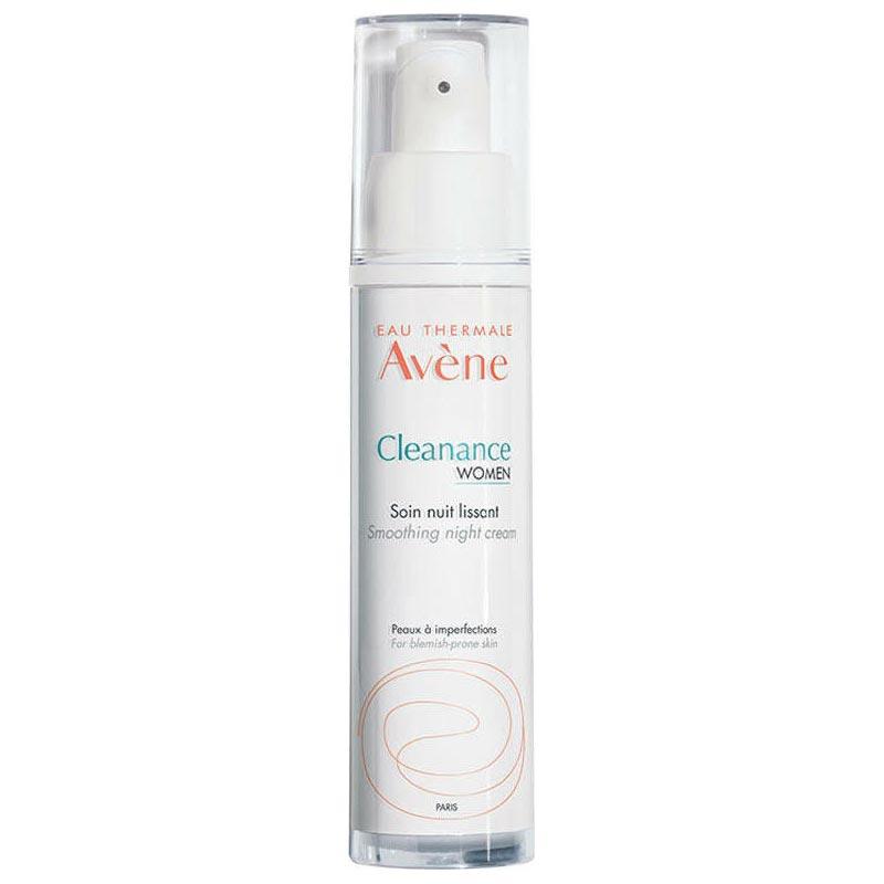 Avene Cleanance Women Κρέμα Λείανσης Νύχτας Δέρμα με Ατέλειες & Σημάδια Ακμής 30 ml