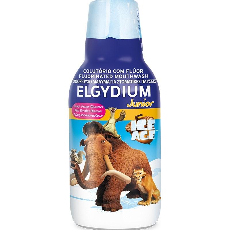 Elgydium Junior Ice Age Mouthwash Στοματικό Διάλυμα Με Γεύση Κόκκινων Μούρων Για Παιδιά Άνω Των 6 Ετών 500ml