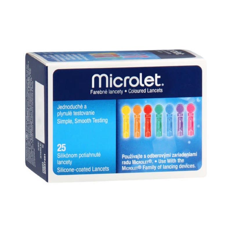 Microlet Σκαρφιστήρες έγρωμοι 25τεμ.