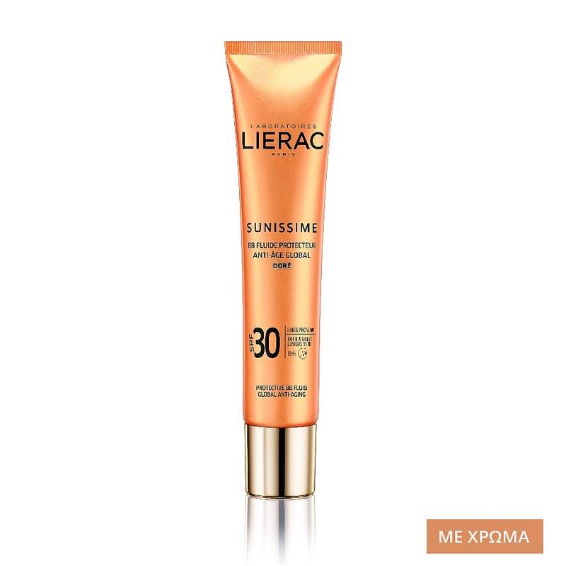 Lierac Sunissime BB Fluide Protecteur Anti-Age Global SPF30 40ml - Dore Αντιηλιακή Κρέμα Προσώπου - με Χρώμα