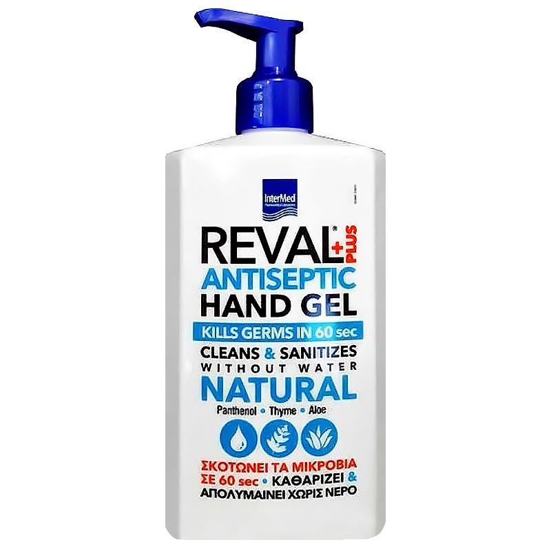 Intermed Reval Plus Antiseptic Hand Gel Αντιβακτηριδιακό Τζελ Χεριών 500ml